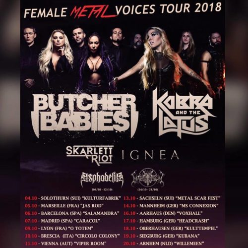 Butcher Babies – Female Metal Voices Tour
