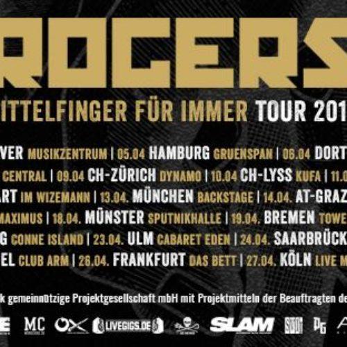 Rogers: große Tour im April 2019